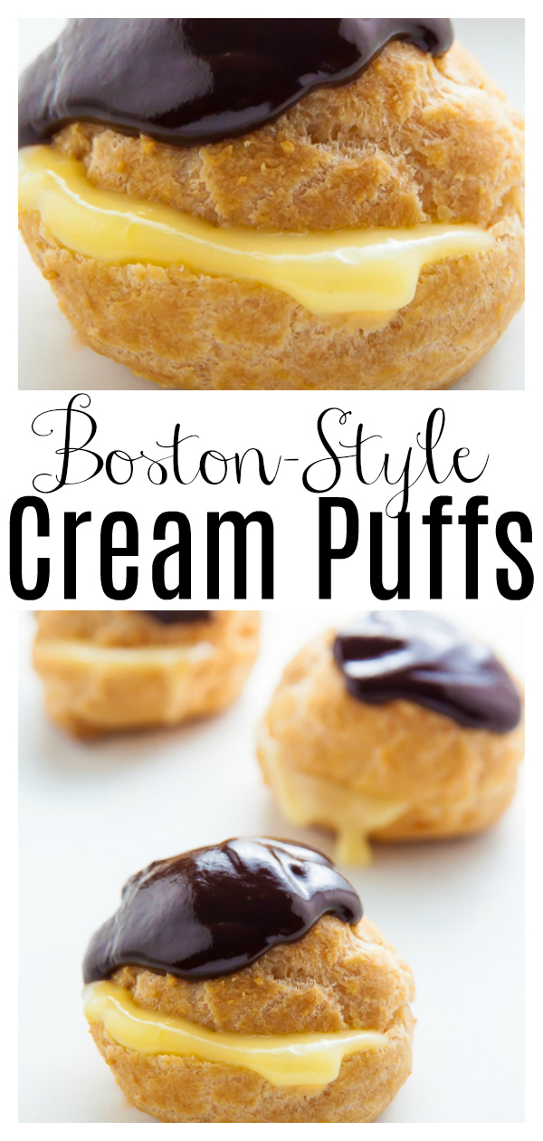 The only thing better than classic cream puffs are Boston Cream Puffs! Featuring a delicatepâte à choux shell, silky smooth Boston cream filling, and chocolate ganache, these are totally additive! And didn't last an hour in our house.