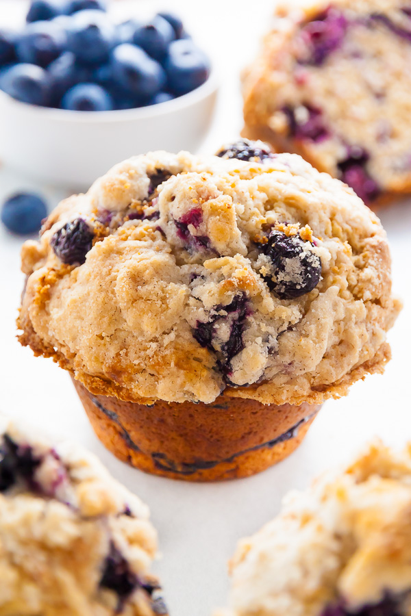 Jumbo Blueberry Crumb Muffin.