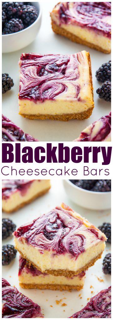 Fresh and Fruity Blackberry Cheesecake Bars!