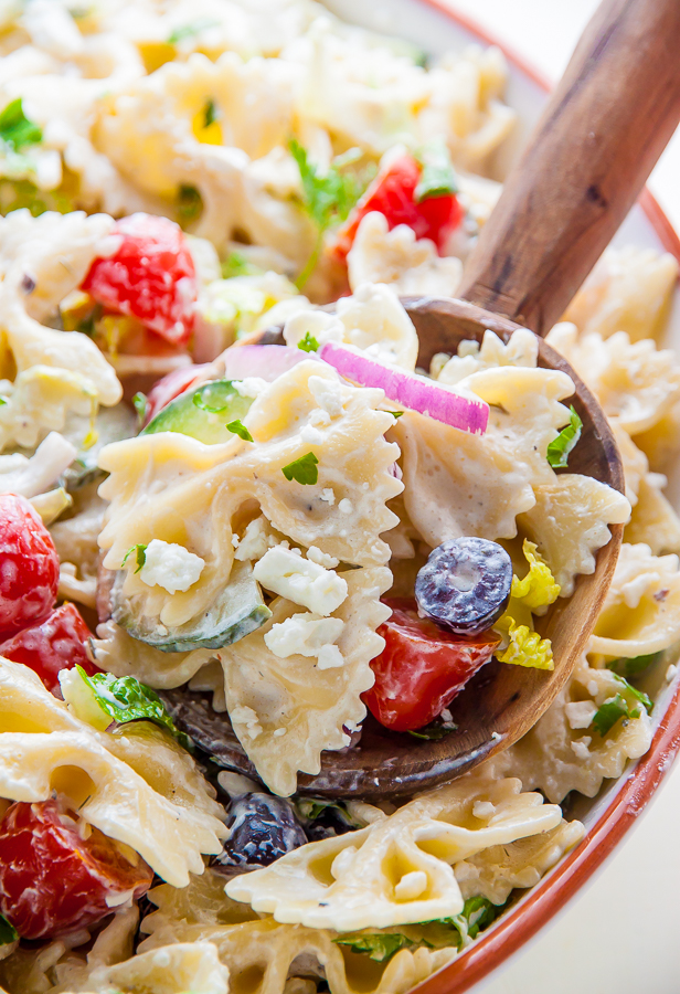 Packed with fresh ingredients and tons of flavor, my Greek Pasta Salad is ready in just 20 minutes. Bonus: The leftovers taste even better the next day!
