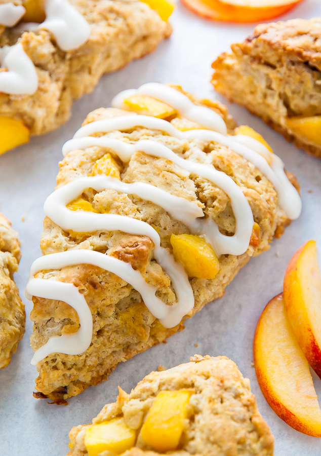Peaches and Cream Scones are the perfect Summer breakfast!