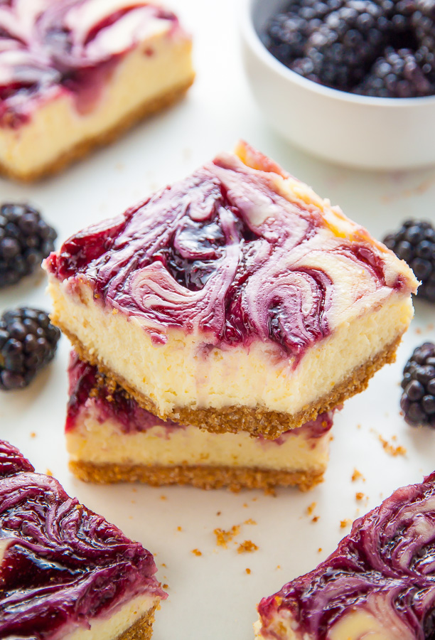 Fresh and Fruity Blackberry Cheesecake Bars!