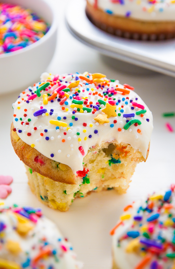 Brown Butter Funfetti Cupcakes - Baker by Nature