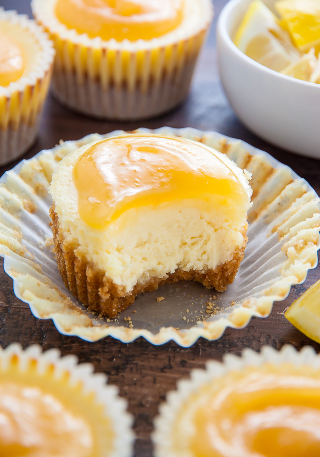 Sweet and creamy Lemon Ricotta Cheesecake Cupcakes!