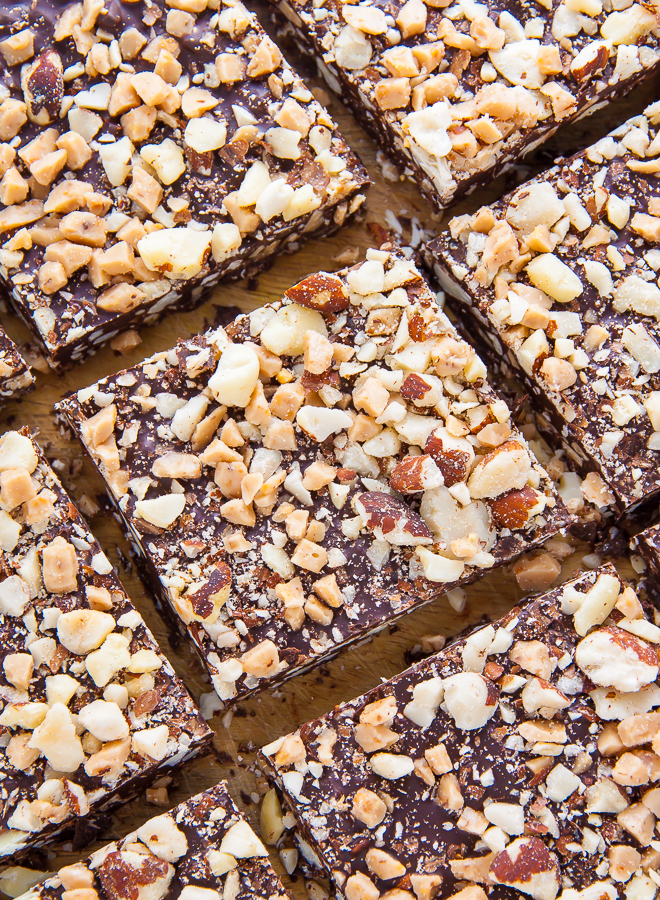 Roasted Almond Toffee Bark made with 3 simple ingredients!