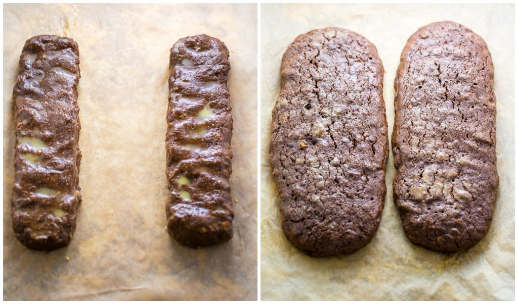 My homemade Chocolate Pecan Biscotti is crunchy, flavorful, and perfect with a cup of coffee!