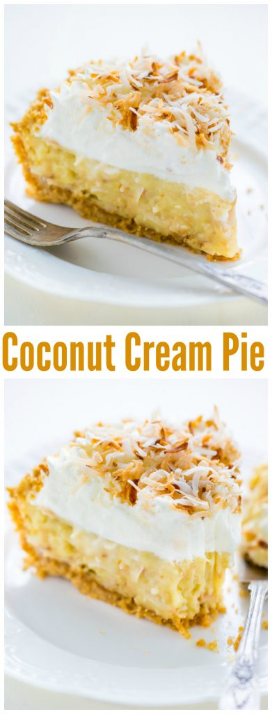 Homemade Coconut Cream Pie is rich, decadent and worth every dang calorie!