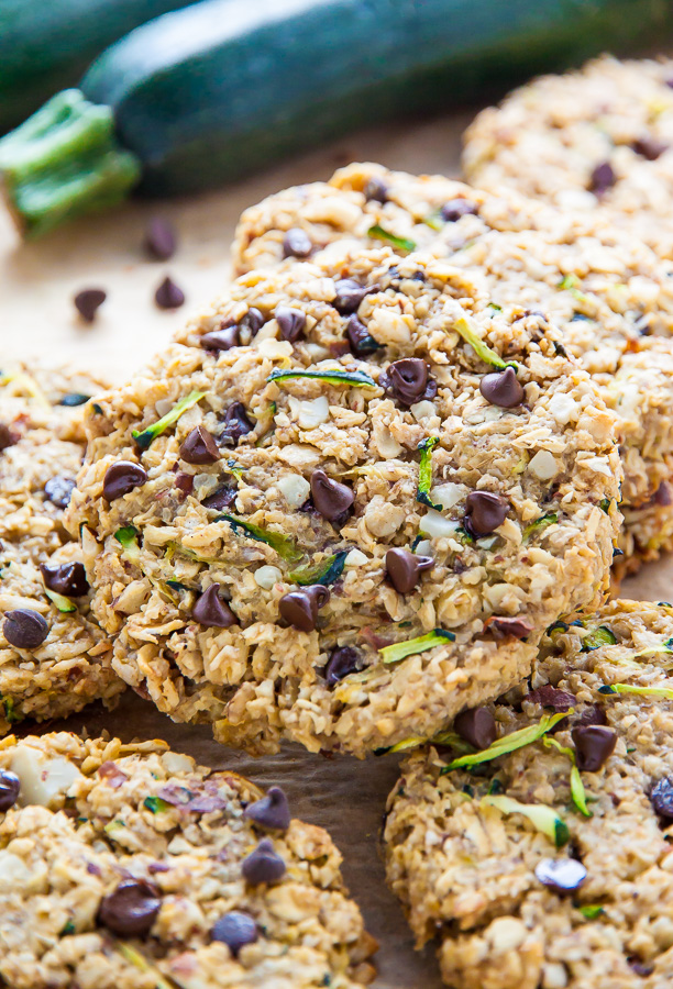 Sweet and chewy Zucchini Bread Breakfast Cookies. Who knew vegetables could be SO delicious?!