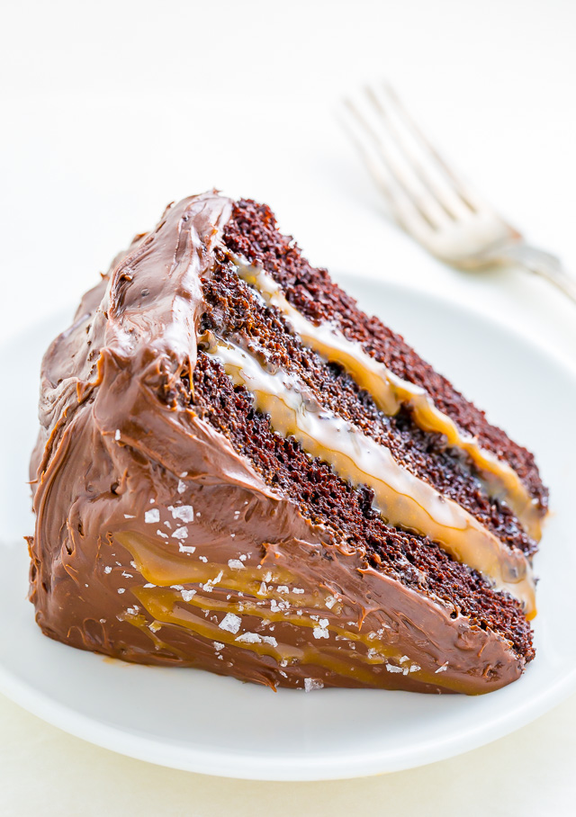 Chocolate And Salted Caramel Mousse Cake