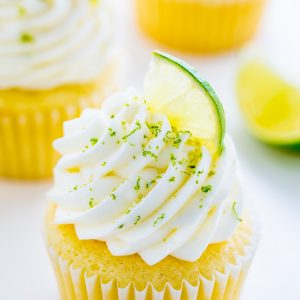 Moist and fluffy Key Lime Cupcakes! Just one bite will transport you to the Florida Keys...