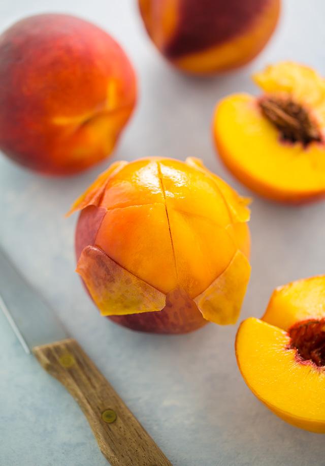 How to skin a peach.
