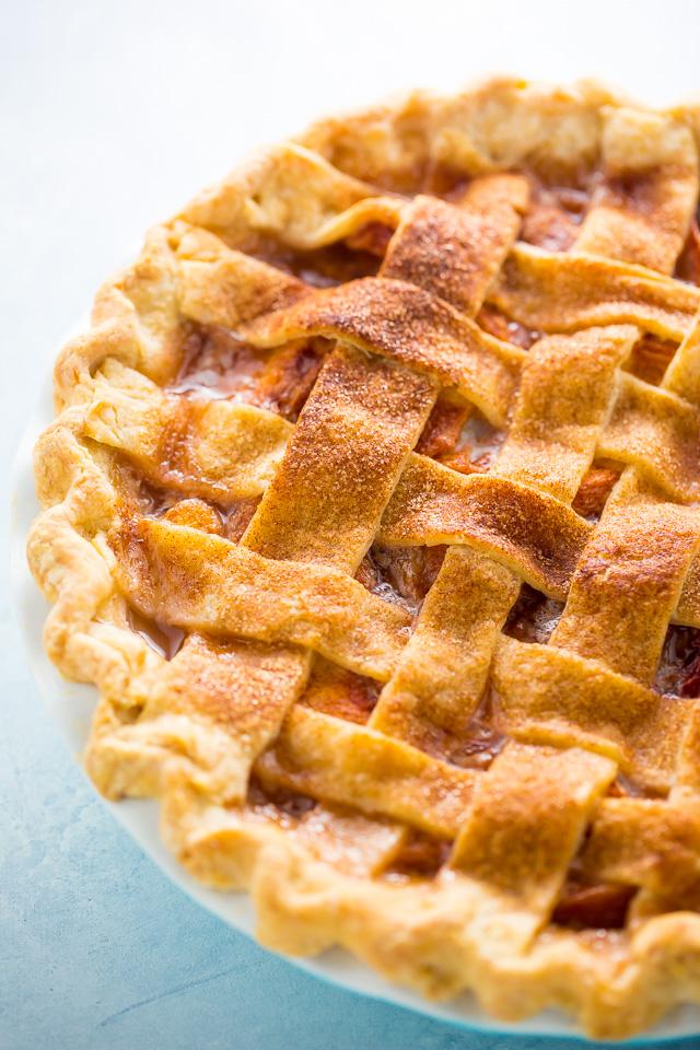 Fresh baked peach pie.