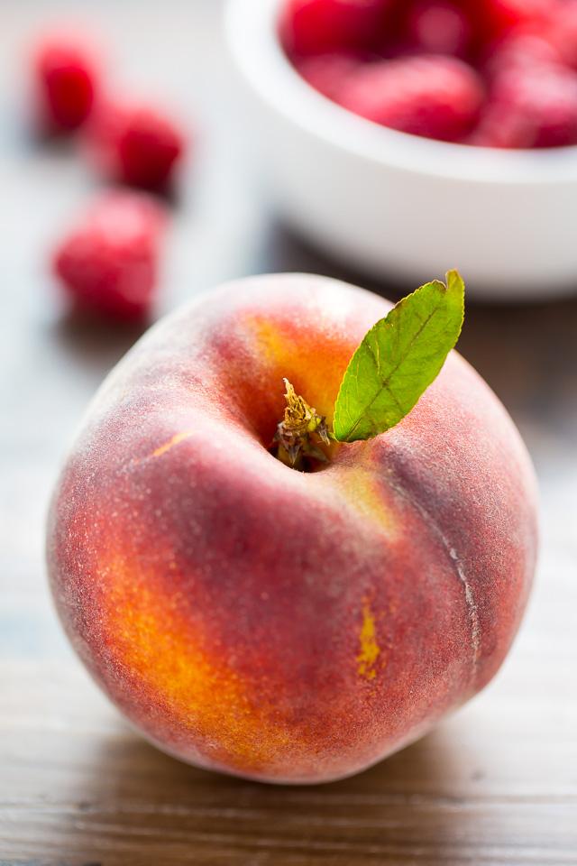 Sweet and fruity Raspberry Peach Muffins! My favorite Summer breakfast!