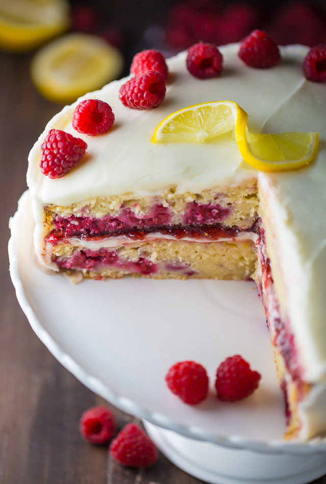White Chocolate And Raspberry Wedding Cake