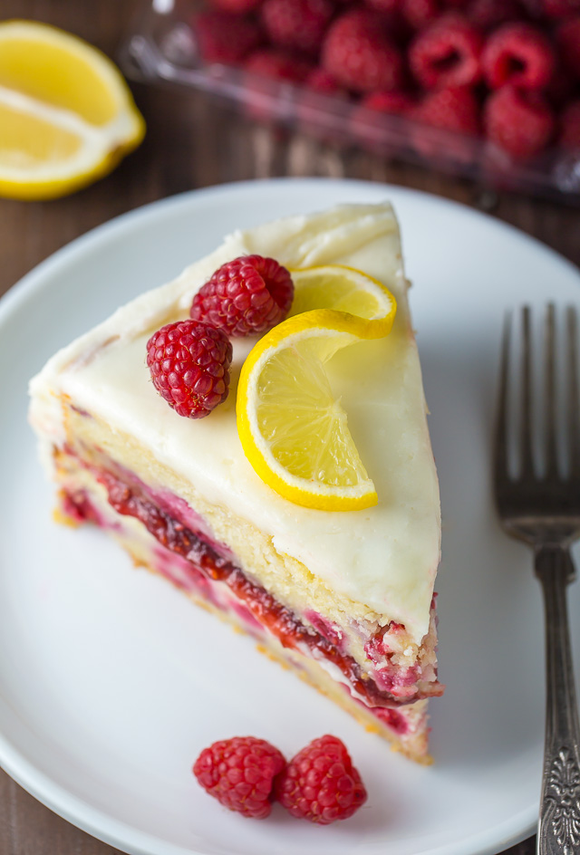 White Chocolate Raspberry Lemon Cake