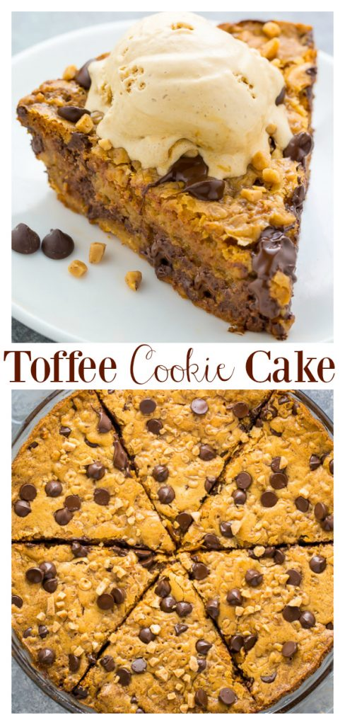 Toffee Chocolate Chip Cookie Cake