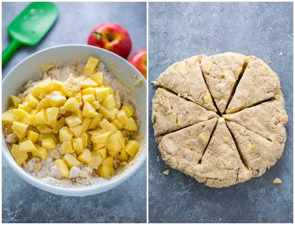 Crunchy yet tender Salted Caramel Apple Scones! YUM.