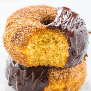 Baked, not fried, these bakery-quality BROWN BUTTER Churro Donuts are ready in less than 20 minutes!