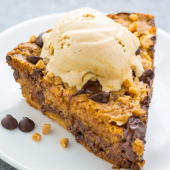 Toffee Chocolate Chip Cookie Pie
