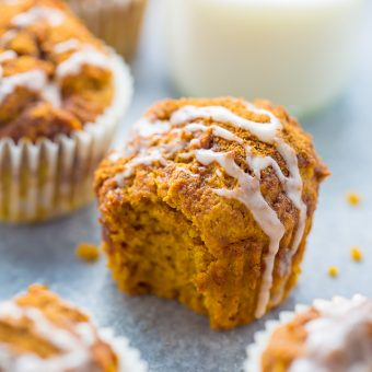 Glazed Pumpkin Donut Muffins (Vegan)