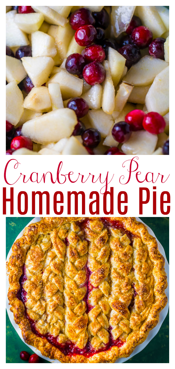 You'll impress everyone with this downright delicious Cranberry Pear Pie! It's loaded with juicy pears, tart cranberries, sugar, and spices! Serve with vanilla ice cream this holiday season!