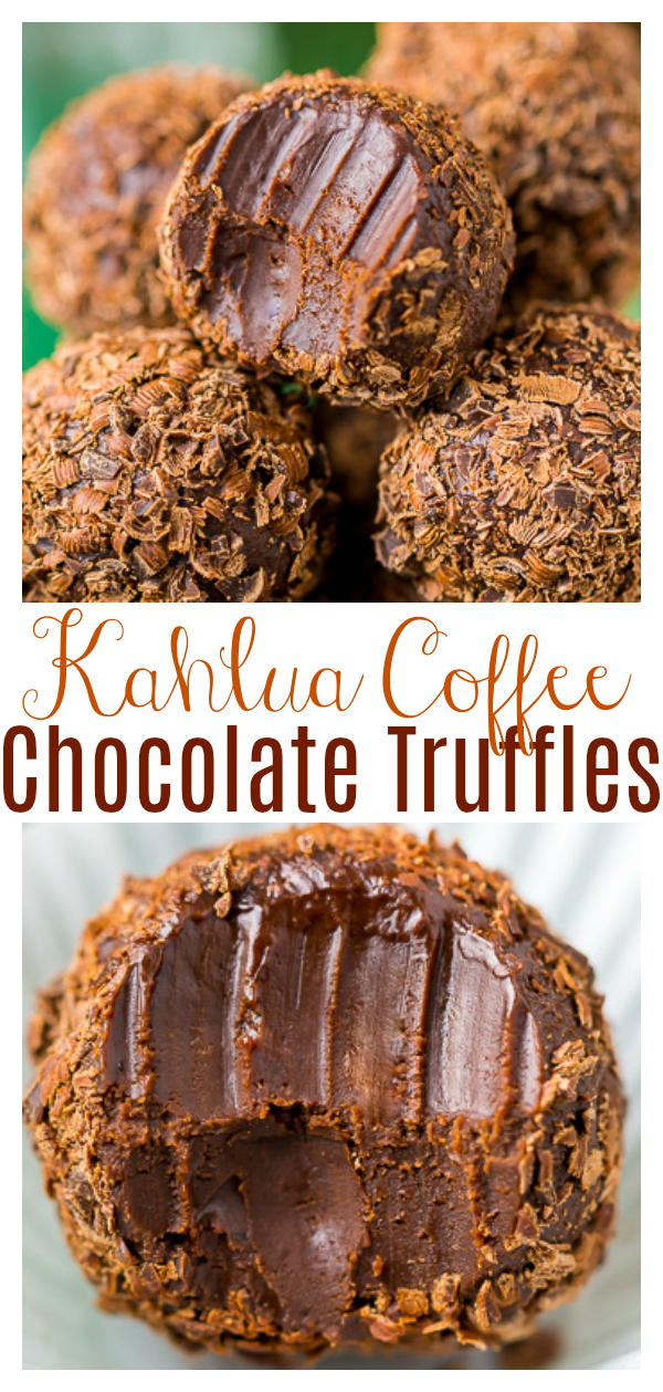 Melt-in-your-mouth Kahlua Chocolate Truffles are made with just 5 ingredients. Made with high-quality chocolate and coffee-flavored liqueur, they're a great gift to give during the holiday season! And so easy, too!