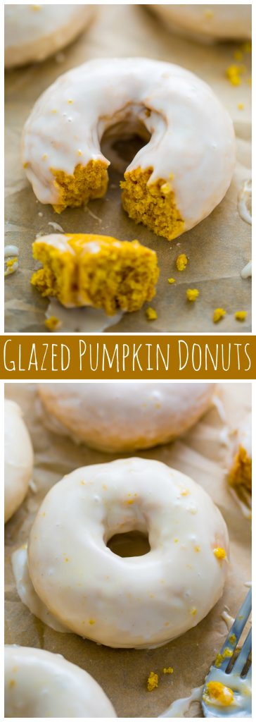 Glazed Pumpkin Donuts are baked, not fried, and ready in less than 20 minutes!