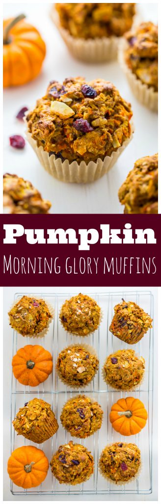 Healthy, hearty, and delicious, my Pumpkin Morning Glory Muffins are the perfect Fall breakfast!