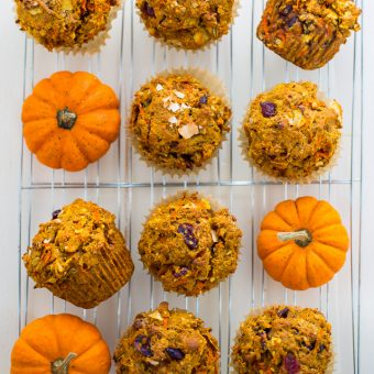 Pumpkin Morning Glory Muffins