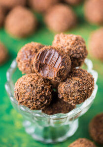 Melt-in-your-mouth Kahlua Chocolate Truffles are made with just 5 ingredients.