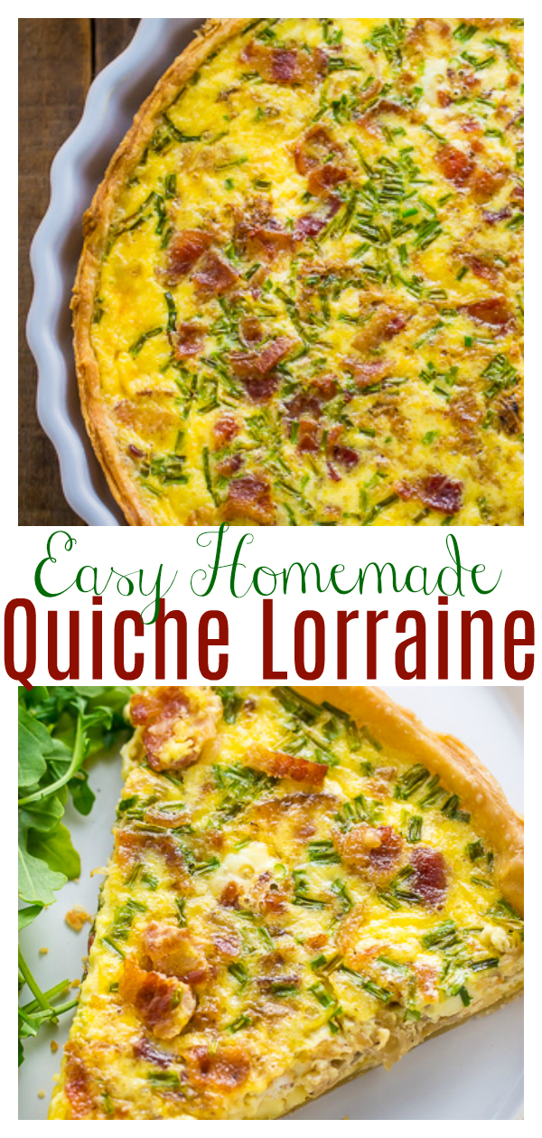 If you love Quiche Lorraine you have to try this homemade version! So flavorful and perfect for brunch or dinner!