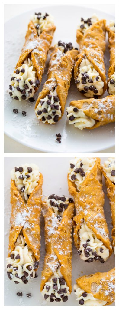 Homemade 5-Ingredient Cannolis are impressive and SO easy! #cannoli #nobake #dessert #ricotta