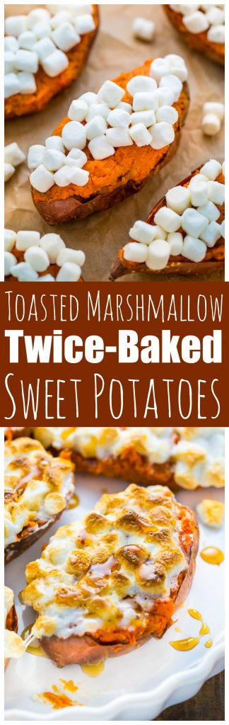 Toasted Marshmallow Twice-Baked Sweet Potatoes - Baker by Nature
