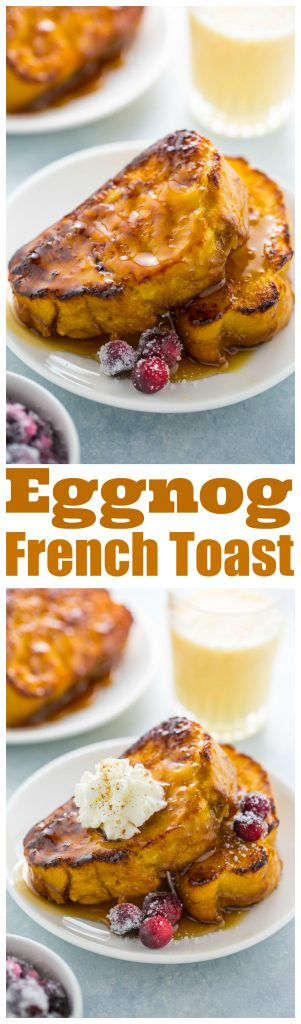 An easy and delicious recipe for Overnight Eggnog French Toast!