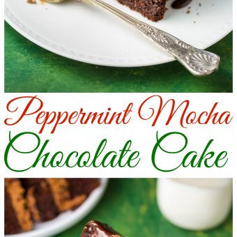 Peppermint Mocha Chocolate Cake