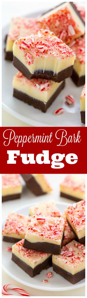Smooth and creamy Peppermint Bark Fudge!