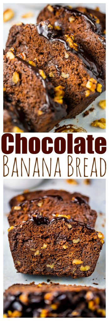 Healthy Chocolate Banana Bread is perfect for breakfast!