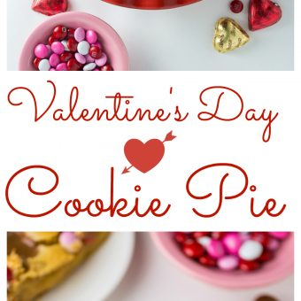Valentine's Day Cookie Pie