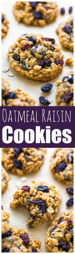 These are hands down the BEST Brown Butter Oatmeal Raisin Cookies EVER!