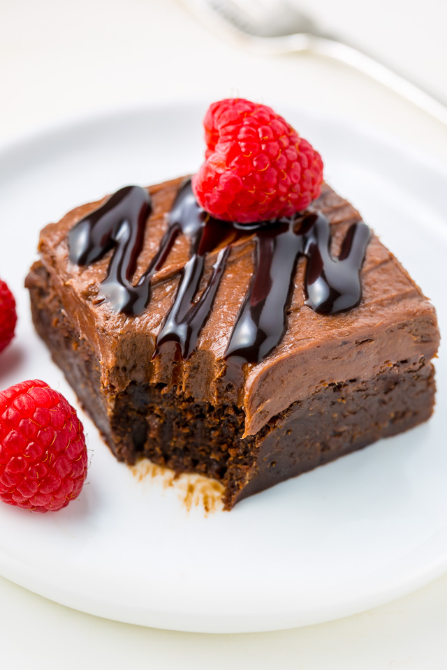 Raspberry Truffle Brownies feature a thick and chewy brownie base ...