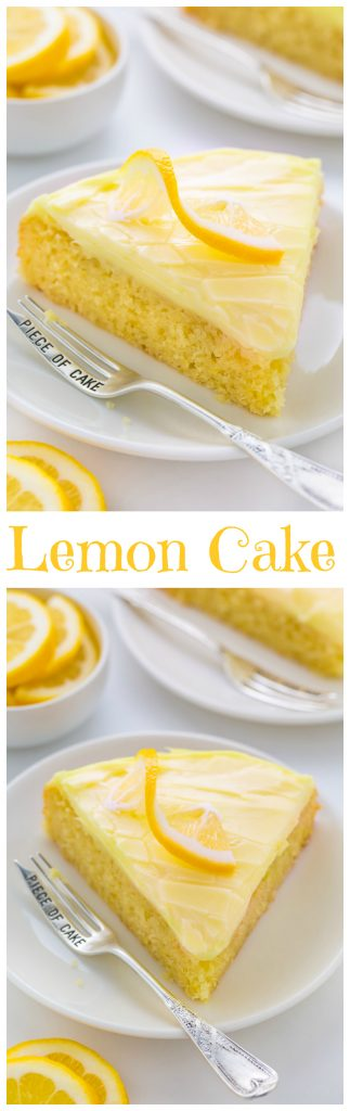Moist and supremely flavorful Lemon Cake with Lemon Cream Cheese Frosting! SO GOOD.