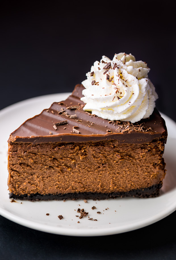 Rich and creamy Chocolate Mascarpone Cheesecake!
