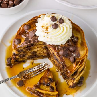 Light and Fluffy Chocolate Chip Pancakes