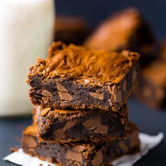 Espresso Chocolate Chunk Brownies