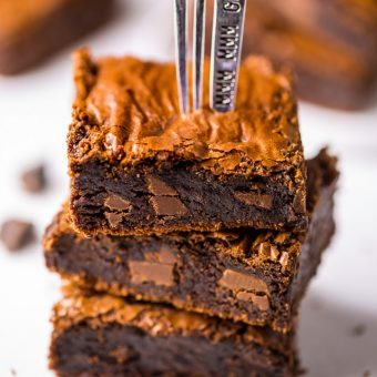 Espresso Chocolate Chunk Brownies