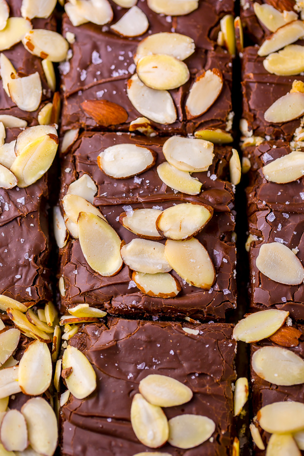Insanely EASY and decadent Almond Fudge Shortbread Bars!