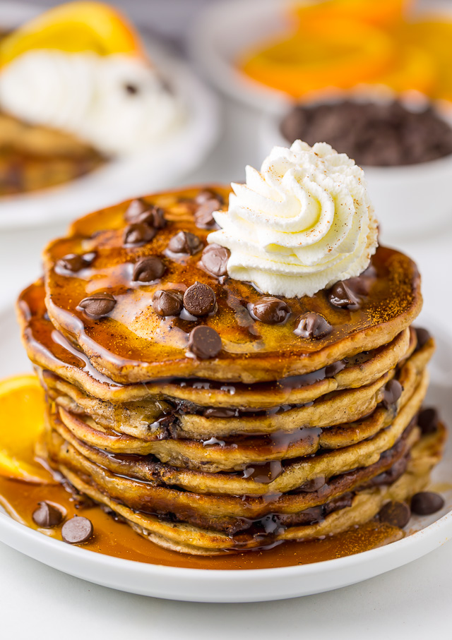Light And Fluffy Chocolate Chip Pancakes Baker By Nature