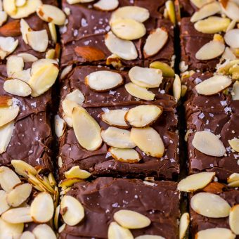 Almond Fudge Shortbread Bars