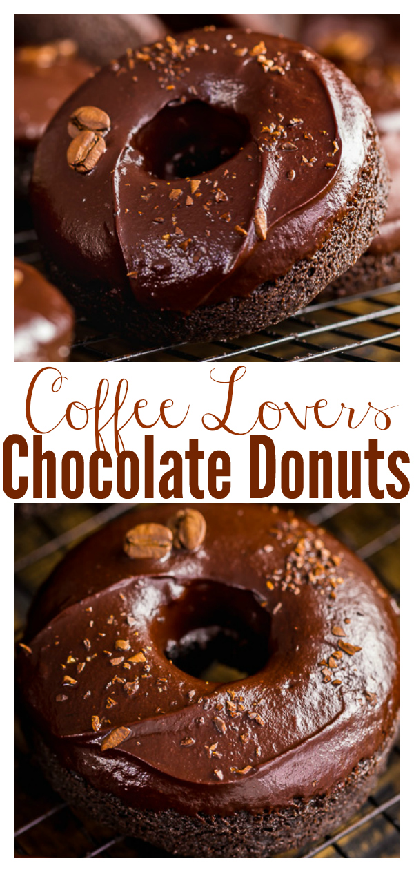 These Coffee Lovers Chocolate Cake Donuts are moist, fudgy, and caffeinated!!! And they're easy enough to whip up on a weekday.