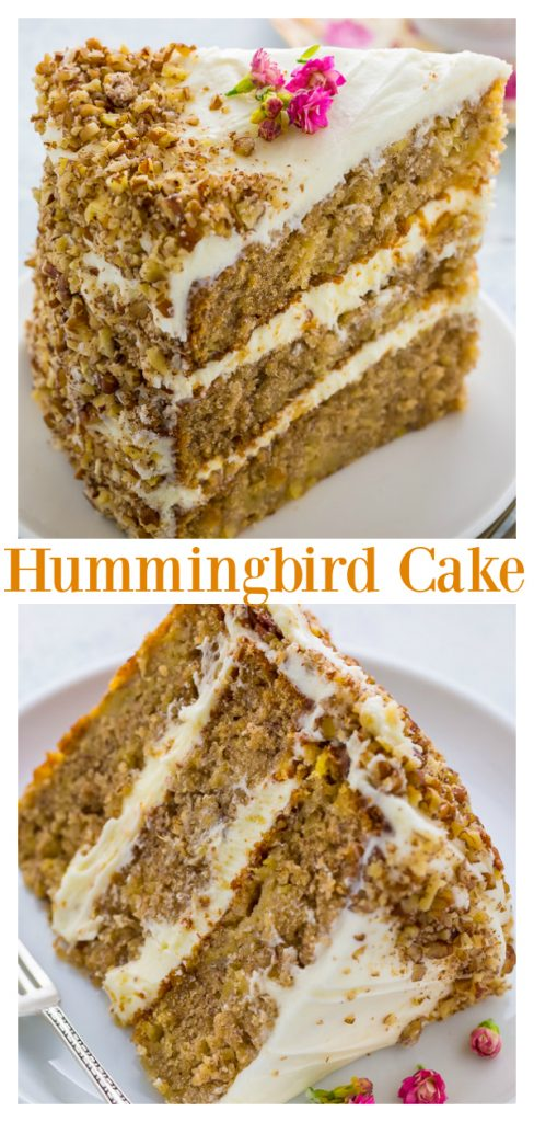 Moist and extremely flavorful, this Hummingbird Cake is pure perfection! Perfect for Easter or Mother's Day!